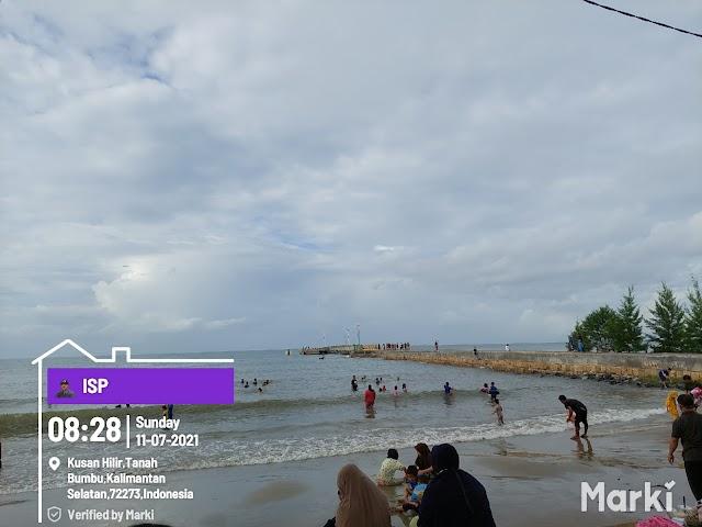 Covid-19 Tak Halangi Warga Rekreasi ke Pantai Pagatan