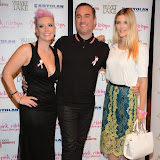 WWW.ENTSIMAGES.COM -    Lisa Allen, Nick Ede and Ashley James   at      Filippo iOco's PINK London 2014 at Gilgamesh, The Stables Market, LondonSwiss body painter iOco throws official London launch party for Breast Cancer Awareness Month. The night is sponsored by Kryolan, and featues a fine art and body painting showcase, with all proceeds going to the Pink Ribbon Foundation.                                                Photo Mobis Photos/OIC 0203 174 1069