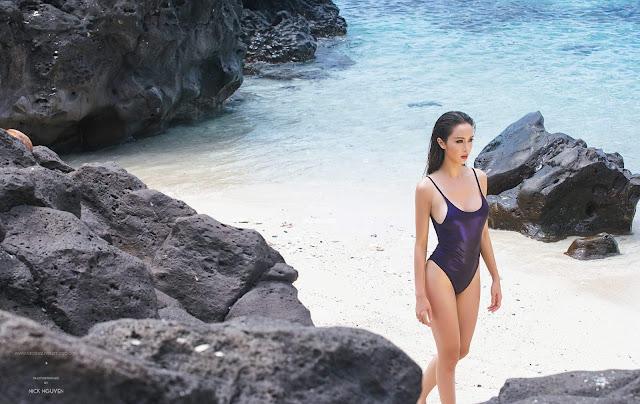 Vũ Ngọc Anh bikini in Lý Sơn photo Nick Nguyễn