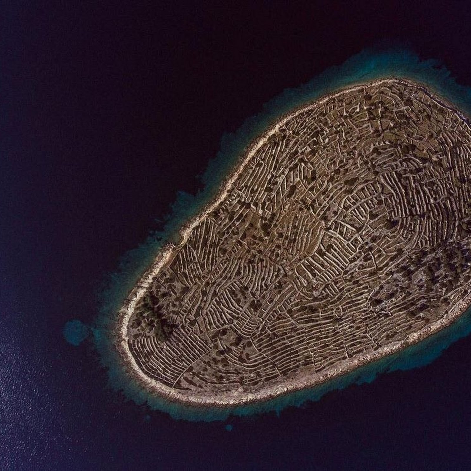 This Croatian Island Looks Like A Giant Fingerprint