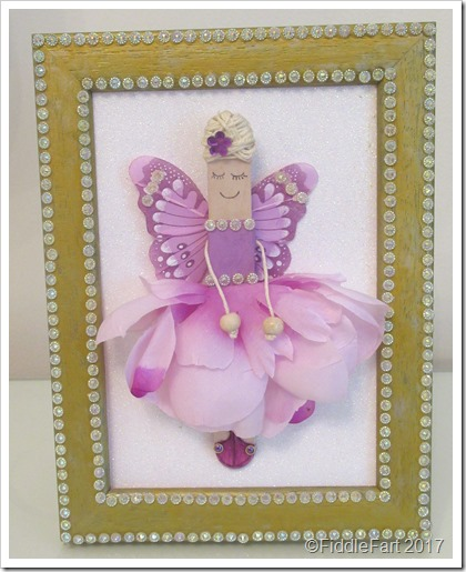 Framed Craft STick Flower Fairy
