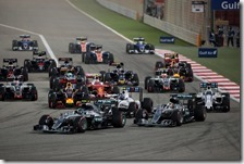 La partenza del gran premio del Bahrain 2016