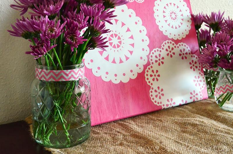 DIY Paper Doilies Wall Art from SewWoodsy.com #12MonthsOfMartha #MarthaStewartCrafts