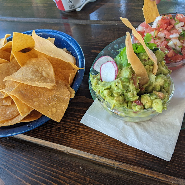 House made chips with fresh guacamole and pico.