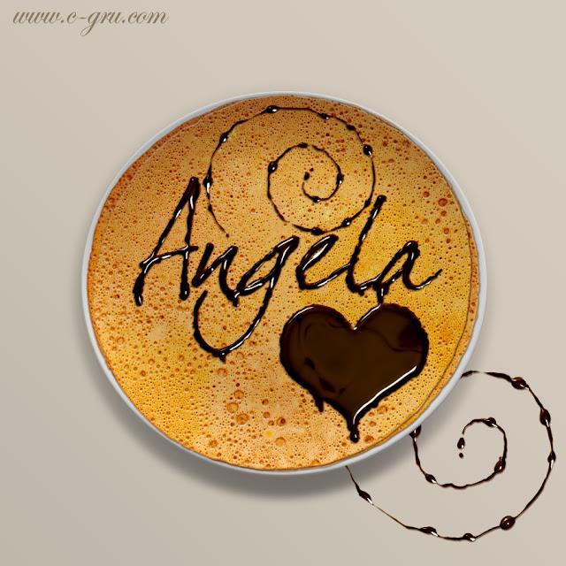 เทคนิคการทำตัวอักษรหยดน้ำผึ้ง (Honey Leaking Effect) AngelaPancakeChoc