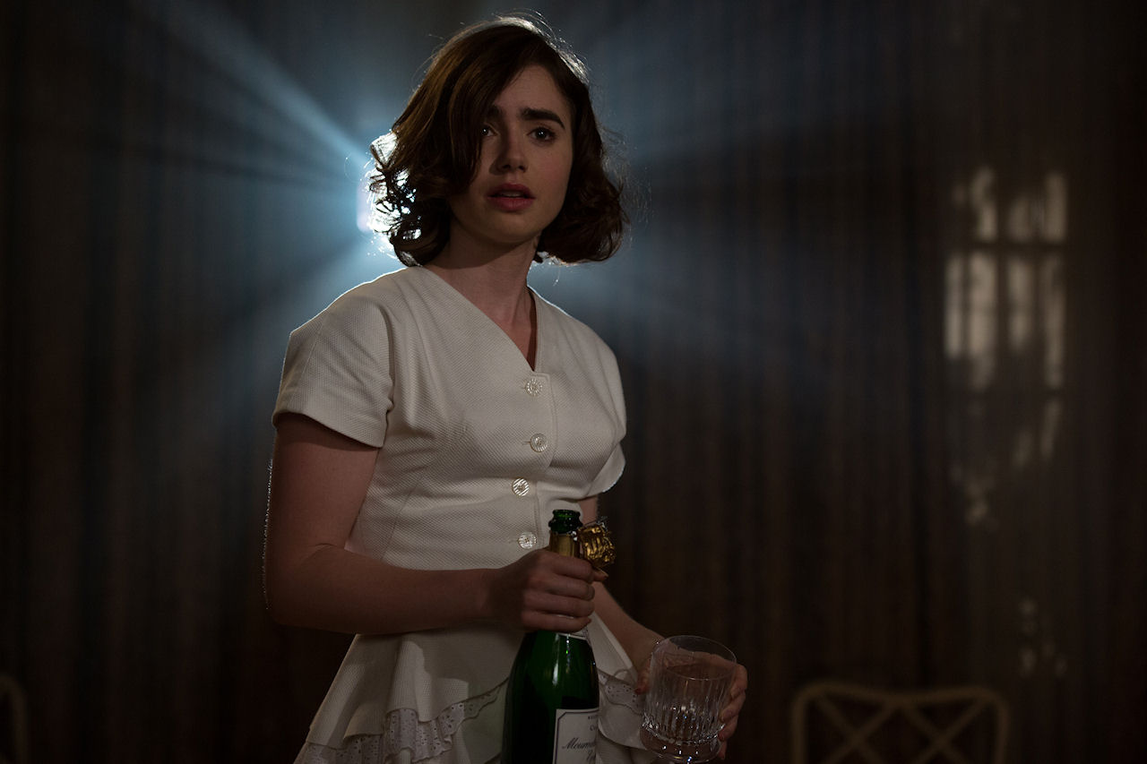 Lily Collins stars in RULES DON'T APPLY. (Photo Credit: Francois Duhamel / 20th Century Fox)