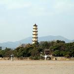 Berges de l'Oujiang : île Jiangxin, pagode ouest