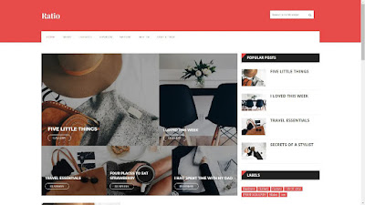 RATIO PREMIUM BLOGGER TEMPLATE DOWNLOAD