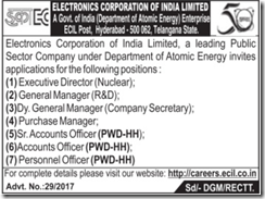 ECIL Careers 2017 www.indgovtjobs.in