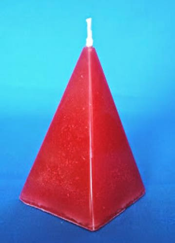 How To Make A Pyramid Candle Mold