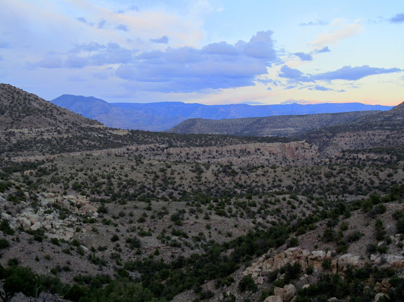View down Turtle Canyon at dusk