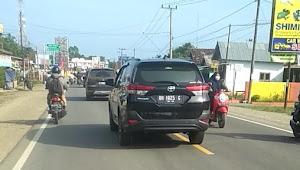 Nakal !! Kendaraan Dinas yang Digunakan Sekdis BPPRD Muarojambi Berplat Palsu