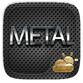 Metal GO Weather Widget Theme