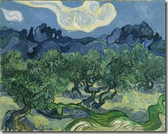 "Vincent van Gogh. (Dutch, 1853-1890). The Olive Trees. Saint Rémy, June-July 1889. Oil on canvas, 28 5/8 x 36"" (72.6 x 91.4 cm). Mrs. John Hay Whitney Bequest"