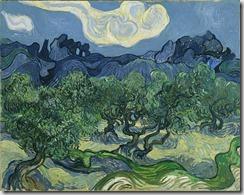 "Vincent van Gogh. (Dutch, 1853-1890). The Olive Trees. Saint Rémy, June-July 1889. Oil on canvas, 28 5/8 x 36"" (72.6 x 91.4 cm). Mrs. John Hay Whitney Bequest"