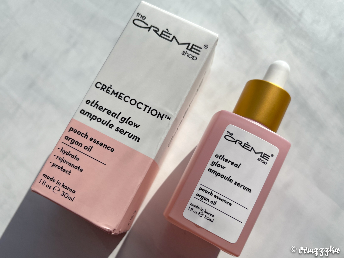 THE CREME SHOP Ethereal Glow Ampoule Serum - Cremecoction Peach + Argan Oil Review
