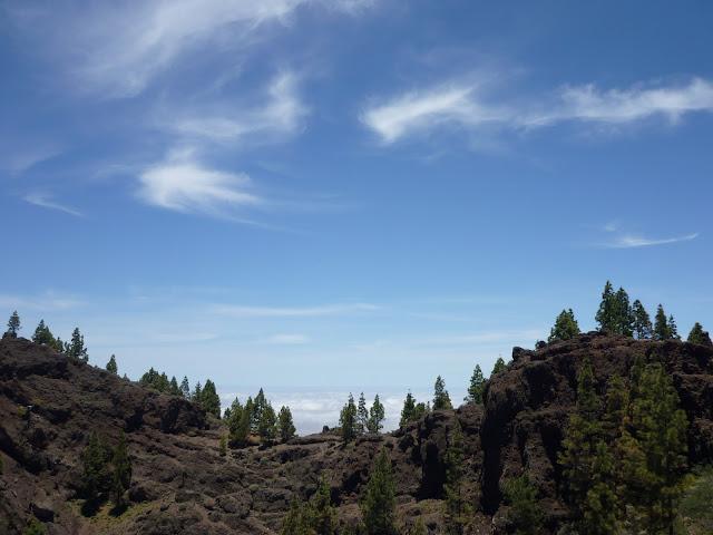 Rand von Vulkankrater auf Gran Canaria