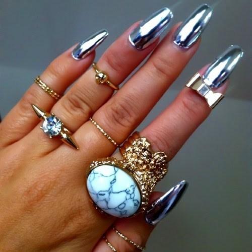 Amazing Metallic Nail Art Design Ideas Styles Art
