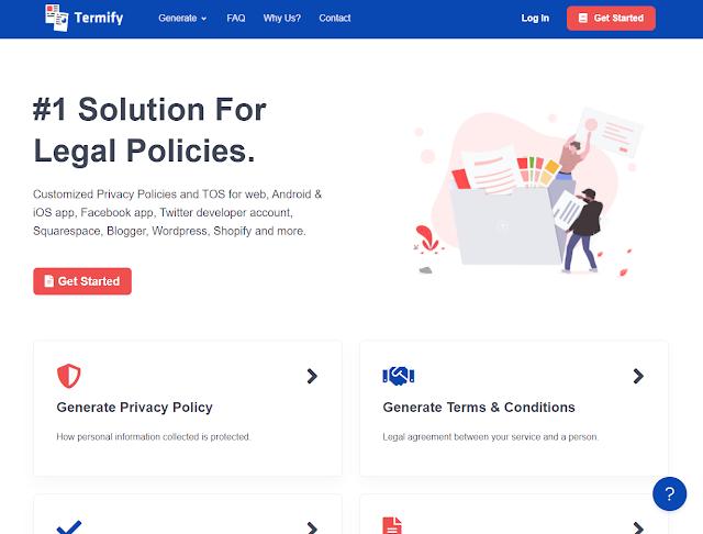 Gerador de Políticas de Privacidade e Termos e Condições personalizados em questão de segundos