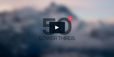 50 lower thirds (textos o gráficos sobre vídeo) sencillos y útiles