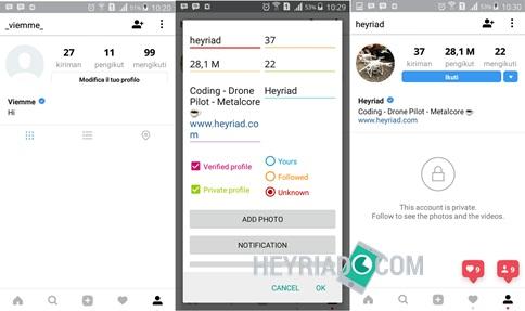Cara Membuat Screenshot Instargam Palsu di Android Cara Membuat Screenshot Instagram Palsu di Android