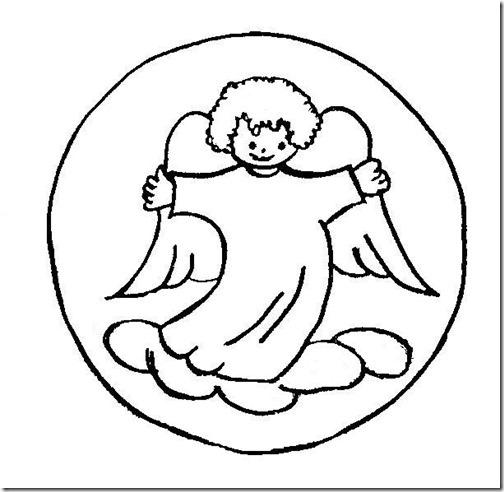 angeles navidad colorear (2)