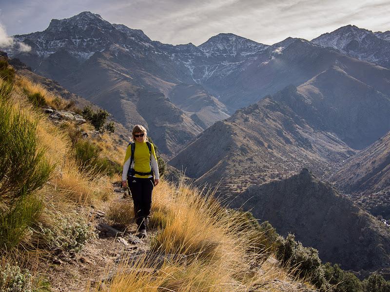 Tornant amb els grans cims de Sierra Nevada al darrere