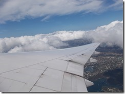 Looking back over Sydney Harbour