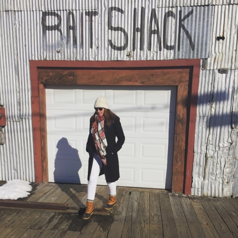 old port, portland, maine, fashion blogger, plaid, j.crew, blanket scarf, jcrew, bean boots, duck boots