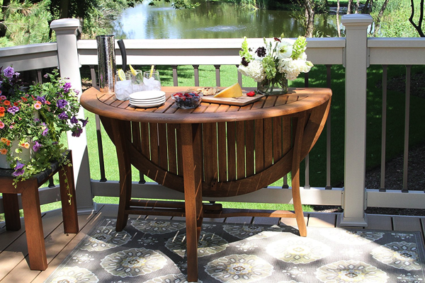 round outdoor fold up table