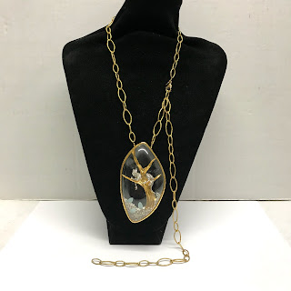 Alexis Bittar Reliquary Panther Necklace