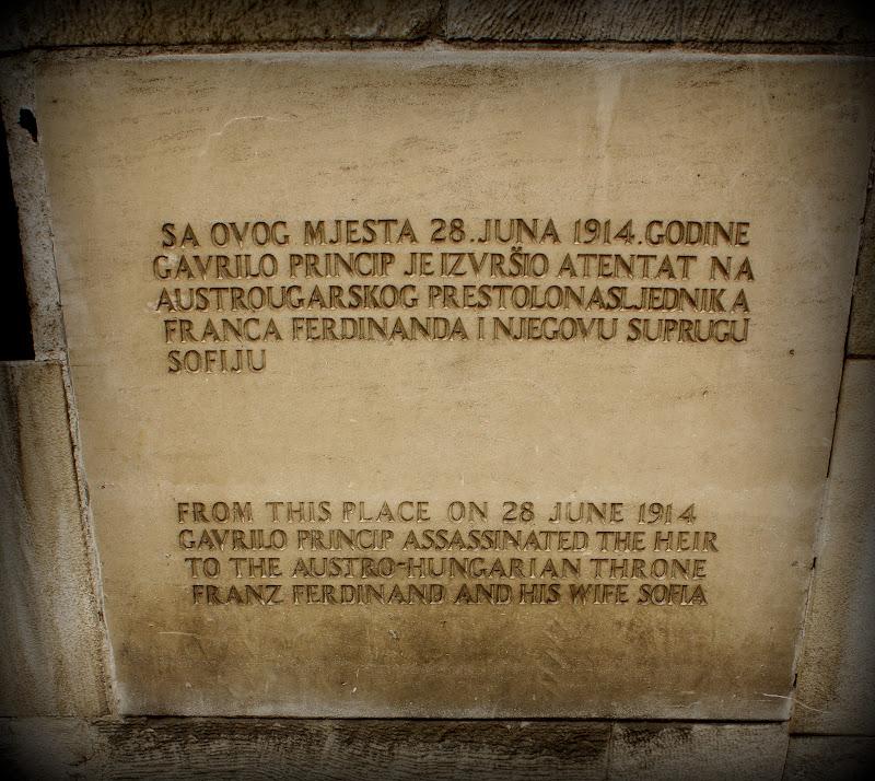 Der Platz, wo Franz Ferdinand getötet wurde