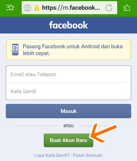 Cara Buat Akun Facebook Di Browser Android
