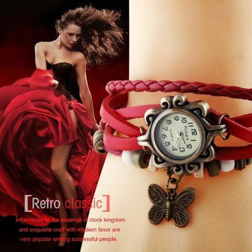 Fashion Ladies Quartz Watch Women Dress Watch Vintage A