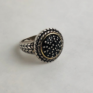 Sterling & 14K Gold Ring