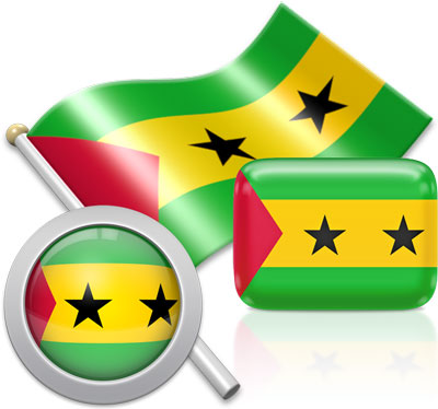 Sao Toméan flag icons pictures collection