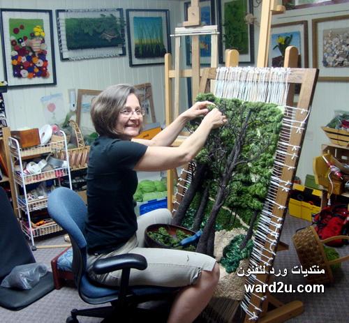 نسيج النول لوحات من الطبيعة Martina Celerin