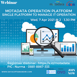 Dokumentasi Webinar MOTADATA OPERATION PLATFORM - 7 April 2021