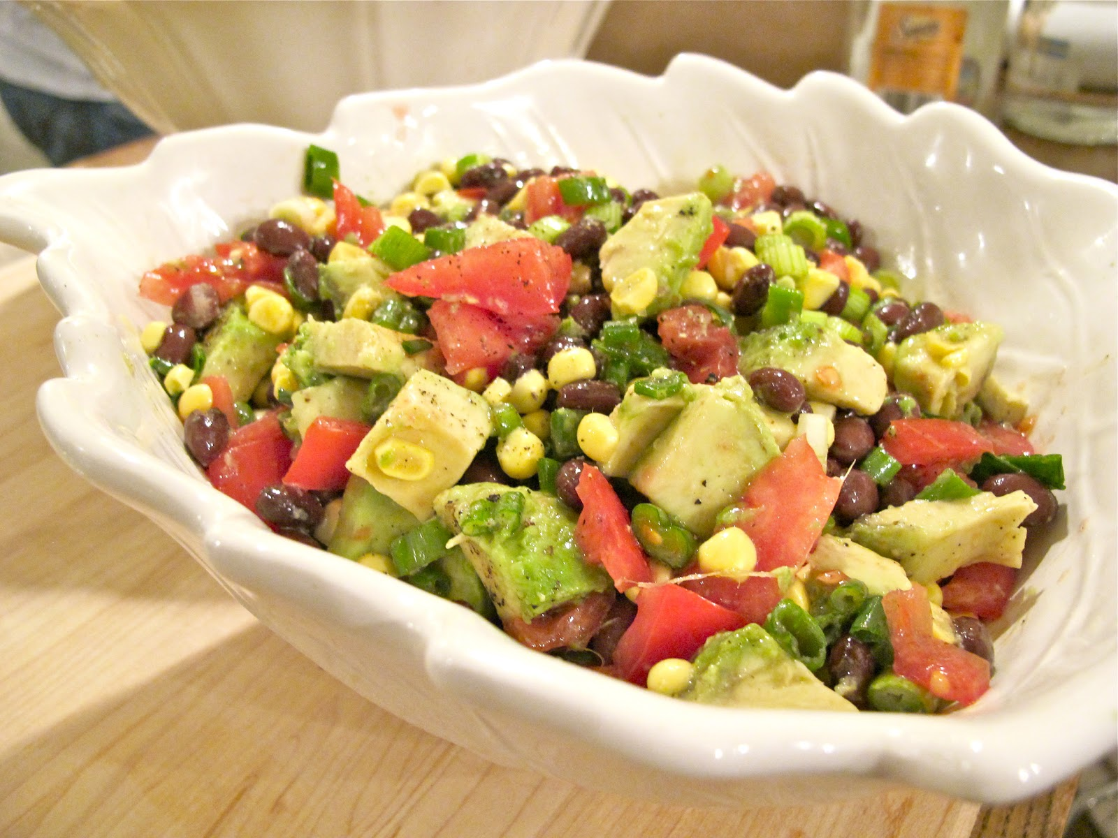 avocado sweet corn and black bean salad avocado sweet corn and black ...