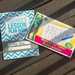 teacher lesson plan homeschool education manuscript tablet writing handwriting thedailyaprilnava top mom mommy blogger