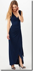 Phase Eight navy jersey wrap front dress with embellished shoulders