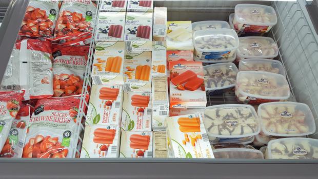 photo of the frozen desserts case