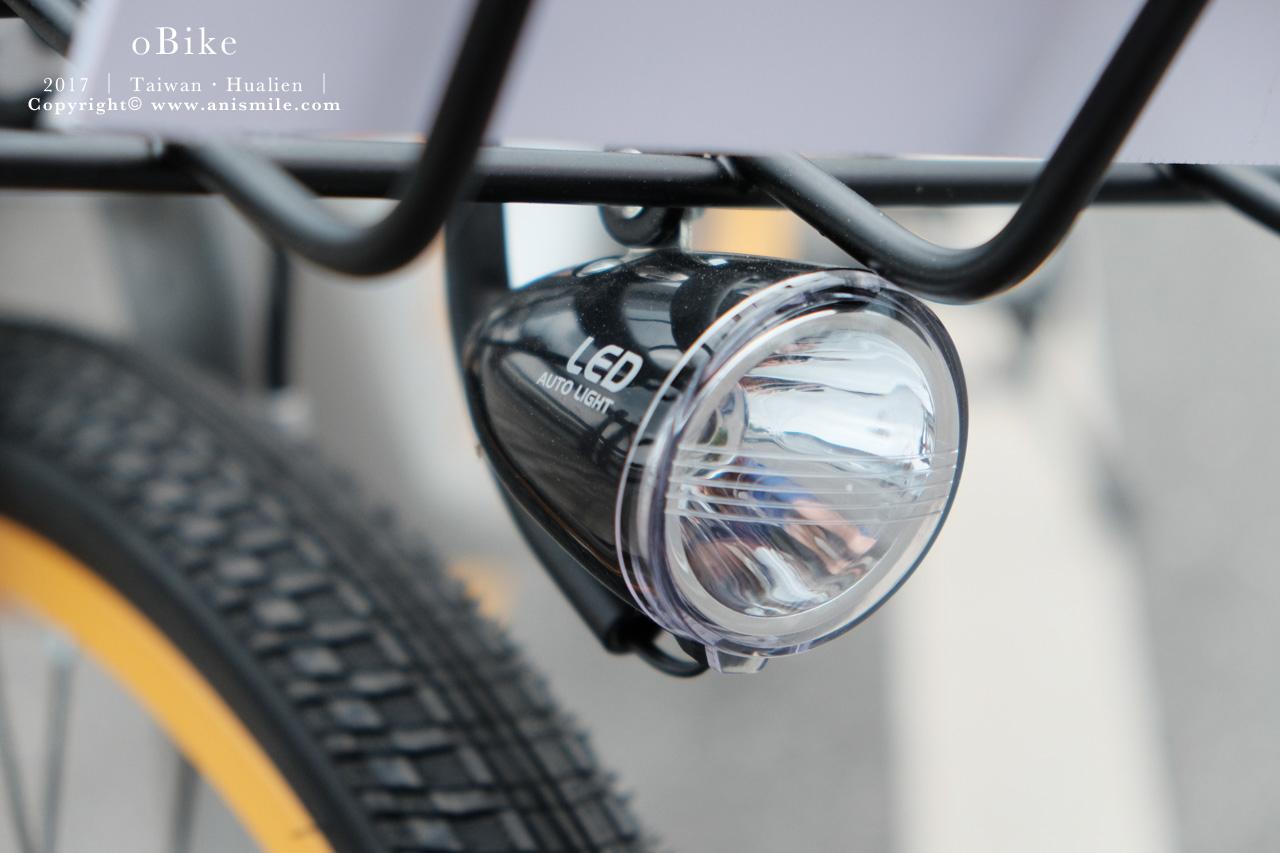 oBike 前方 LED 車燈