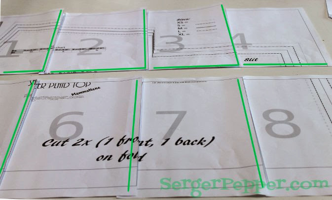 Serger Pepper - Fast & Easy Tips for print and assembly - tiled together
