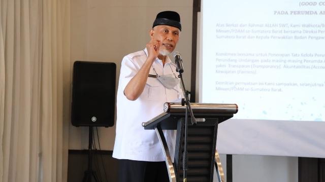 Gubernur Sumbar Dorong Kabupaten/Kota Beri Subsidi pada PDAM