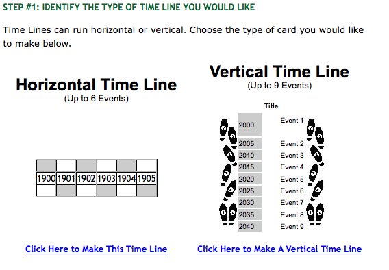 vertical timeline maker