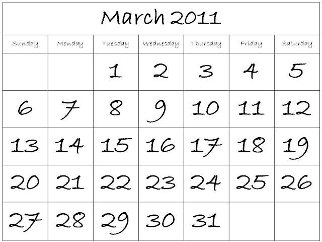 monthly calendar printable 2011. monthly calendar 2011