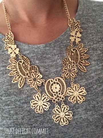 Stitch Fix Review September 2015, statement necklace