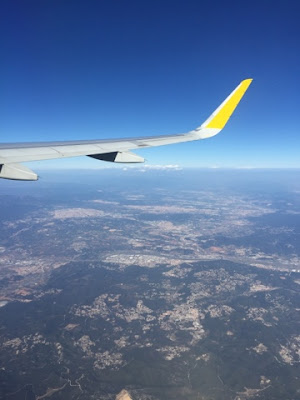 Flying in an aeroplane