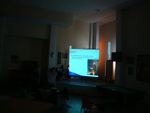 Photo: Presentations about Human Rights in the Main Hall of the School